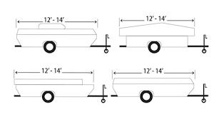similiar pop up camper dimensions keywords pop up camper cover 12 14 long classic accessories rv covers