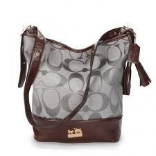 Coach Legacy Duffle In Printed Signature Medium Grey Crossbody Bags ACH