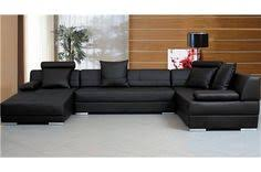 living room ideas with black sectionals. Modern Black Leather U Shape Sectional Sofa Living Room Ideas With Sectionals
