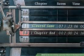 image led do the infinite launcher glitch in resident evil 4 step 2