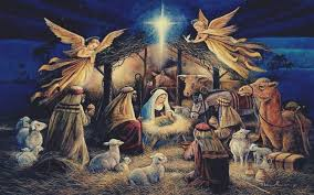 christmas jesus hd. Contemporary Jesus Virgin Mary Jesus Christ Christmas Lights Angel Night Religion With Christmas Hd A