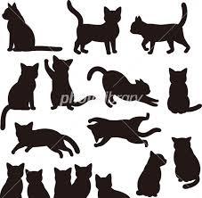 猫のシルエット素材セット イラスト素材 4223547 フォトライブ