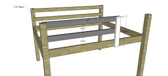 Plans For A Loft Bed Free Woodworking Plans To Build A Full Sized Low Loft Bunk The