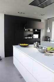 kitchen furniture white. Sleek Matte Kitchen With White Functional Furniture And Black Storage A