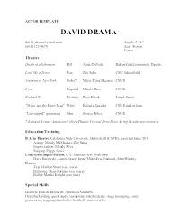 Free Acting Resume Template Interesting Free Resume Templates Samples Resumes Template Actor Resume Template