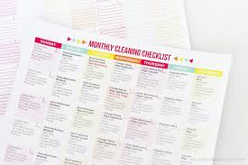 Cleaning Chart Checklist Free Printable Cleaning Schedule And Checklist Printable Crush