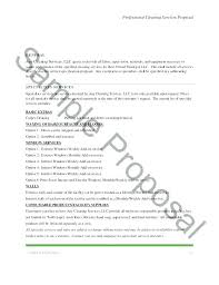 Estimate Proposal Template Best Cleaning Services Proposal Template Service Estimate Quotation Price