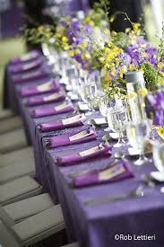 decorating ideas purple yellow