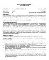 Resume Template Legal Administrative Assistant Resume Sample Free