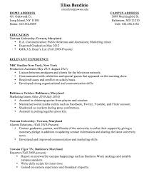 Sample College Student Resume No Work Experience Sample College First Cv No Work  Experience