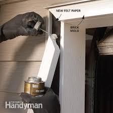 brick mold corners garage door