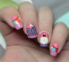 Then and Now - Birthday Nail Art - tina_tech