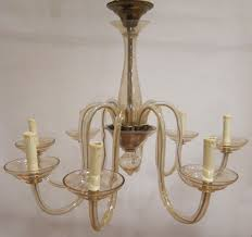 vintage murano 8 arm chandelier all hand blown in tinted glass h 24 diameter 31 1 500 00 france