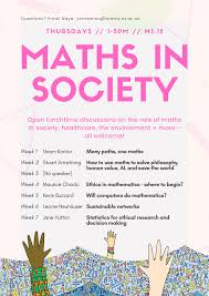 Maths in Society | Mathematical Institute