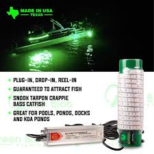 Build Your Own Green Fishing Light Dock White 7500 Lumen Led Underwater Fishing Light With 110v Ac Adapter And 3 Prong Plug