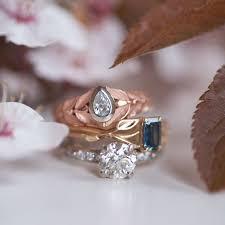 sea glass engagement ring lovely era design vancouver custom designed engagement rings wedding rings of