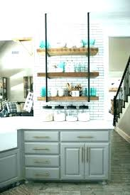 glass shelves for kitchen open glass shelves kitchen open shelf n cabinets apartment therapy shelving glass glass shelves for kitchen