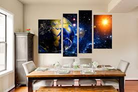 piece canvas photography space wall decor modern multi panel