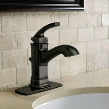 bathroom faucets. single handle with deck plate bathroom faucets