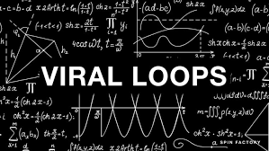 viral math this image shows random equations with the text viral loops written