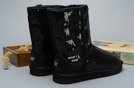 UGG Women Classic Short Sparkles 3161 Boots Black