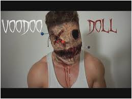 makeup on of voodoo doll post
