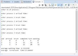 Gantt Chart Fcfs Scheduling Algorithm Java Program For First Come First Serve Fcfs Scheduling