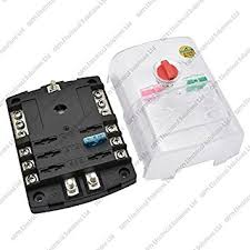 6 way blade fuse box bus bar with cover marine kit amazon co uk 12 volt fuse box 6 way blade fuse box bus bar with cover marine kit car boat hgv