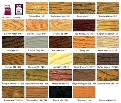 Furniture Stain Colors Chart Varathane Stain And Poly Colors Clinalytica Co
