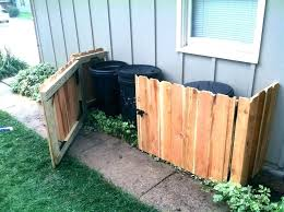 outdoor trash can storage ideas garbage shed outside cans plans holder garden cabinet diy