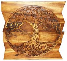 sustainable wood tree of life on uneven boards walnut oil finish  on wall art wooden tree with sustainable wood tree of life on uneven boards traditional wall