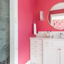 hot pink girls bathroom wall paint