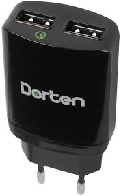 <b>Сетевое зарядное устройство Dorten</b> Dual USB Quick Charger ...