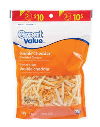 shredded cheese. Perfect Cheese Great Value Double Cheddar Shredded Cheese Throughout