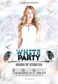 White Party Free Flyer Template Download Free Psd Flyer