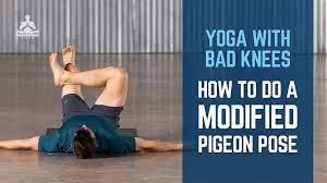 how to do a modified pigeon pose