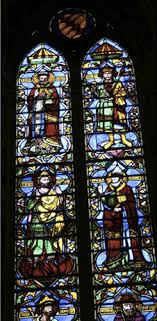 maso di banco and unknown stained glass artists holy confessors window ca 1320 stained glass window bardi di vernio chapel santa croce florence