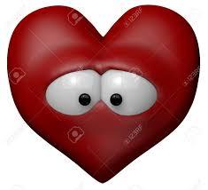 Triste Coeur Rouge Avec Les Yeux Illustration De Dessin Anim 3d