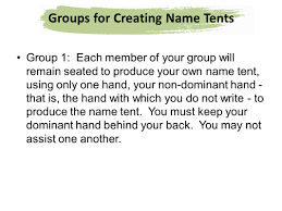 name tent instructions for creating name tents ppt download