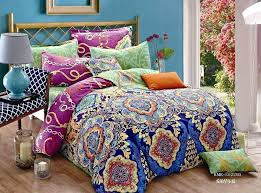 blue and green bedspread blue purple green fl bedding set queen size