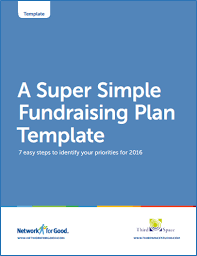 Fundraising Plan Template Network For Good Quick Start Guide To Donor Management