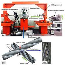 the evolution of wear mass loss for the wire rope under different sliding friction test rig of wire rope a test rig b