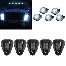 Led Cab Lights Us 20 16 18 Off Newest 5pcs Smoked Lens White Led Cab Roof Top Marker Running Marker Lights For Truck Suv 4x4 Off Road For Jeep Atv Top Lamps In