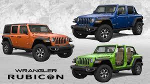 2018 jeep wrangler rubicon color options