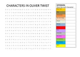 characters in oliver twist wordsearch by hmbenglishresources  characters in oliver twist wordsearch docx
