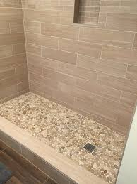 Tiled Bathroom Floors Design Of The Doorless Walk In Shower Shower Tiles Doors And