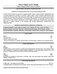 Accounting Business Administration Resume Template Premium