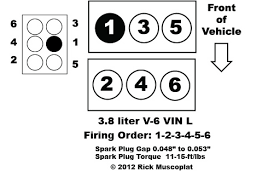 liter v chrysler firing order ricks auto repair advice 3 8 liter v 6 cylinder vin l town country dodge caravan