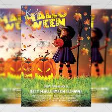 Halloween Flyers Templates Kids Halloween Flyer Seasonal A5 Template