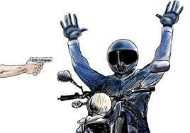 Resultado de imagem para assaltante roubando moto